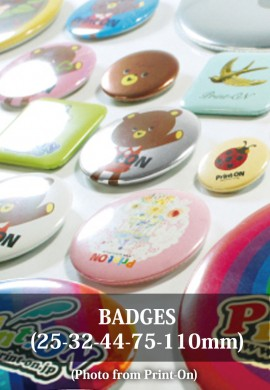 Badges 25/32/44/75/110 mm